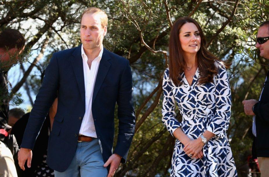 Princas Williamas ir Kembridžo hercogienė Catherine