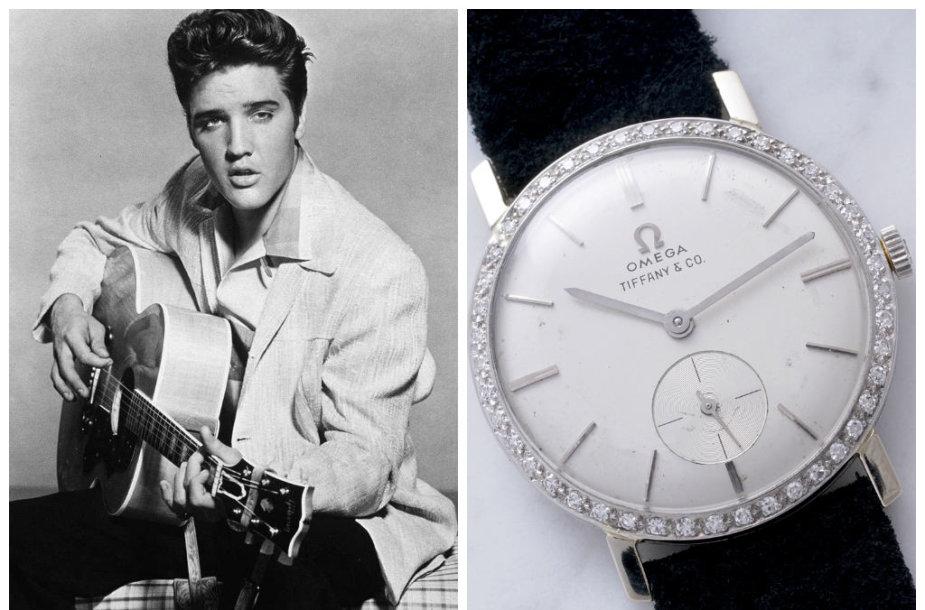 Elvio Presley laikrodis parduotas aukcione