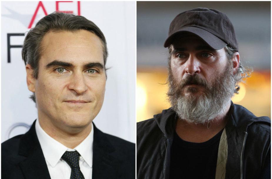 """Filme """"Tavęs niekada čia nebuvo"""" kardinaliai pasikeitęs Joaquinas Phoenixas režisierei priminė velnią"""