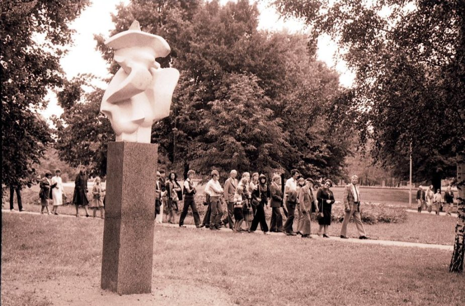 40 metų švenčiančio Skulptūrų parko nuotrauka iš archyvų.