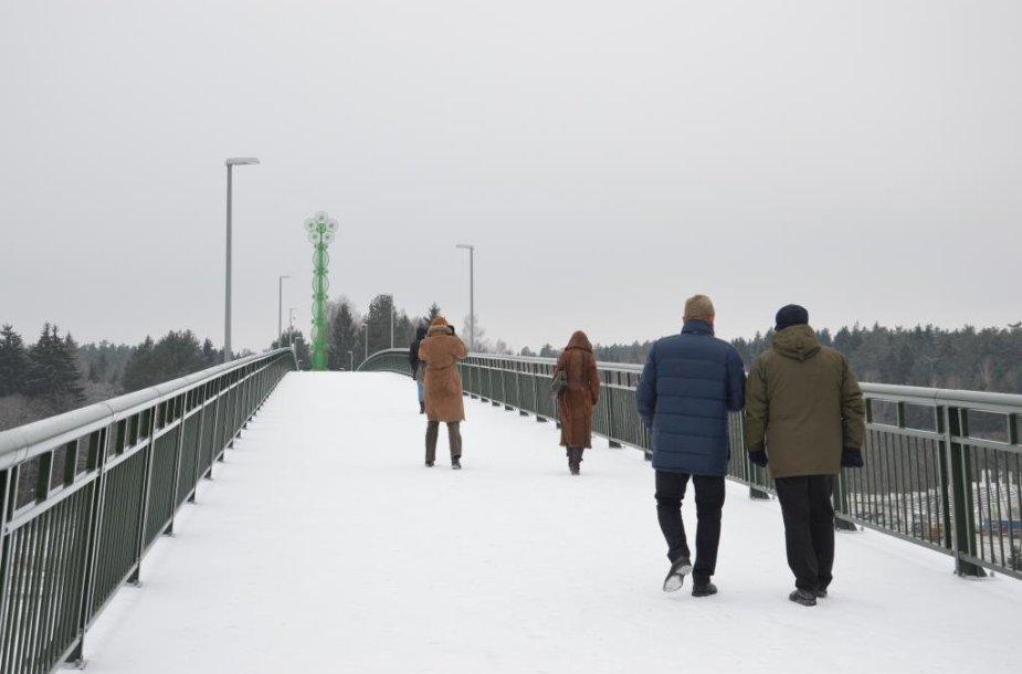Pėsčiųjų ir dviračių tiltas Alytuje