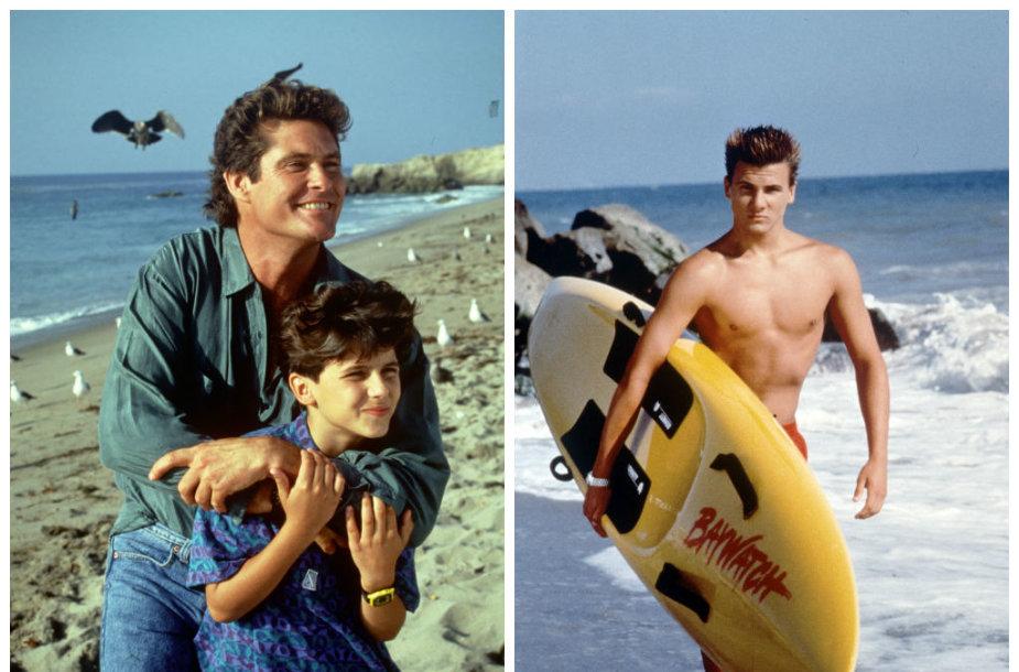 """Davidas Hasselhoffas ir Jeremy Jacksonas seriale """"Gelbėtojai"""""""