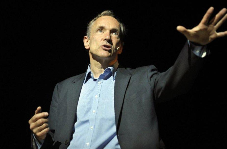 Pasaulinio voratinklio išradėjas, britas mokslininkas Timas Bernersas-Lee