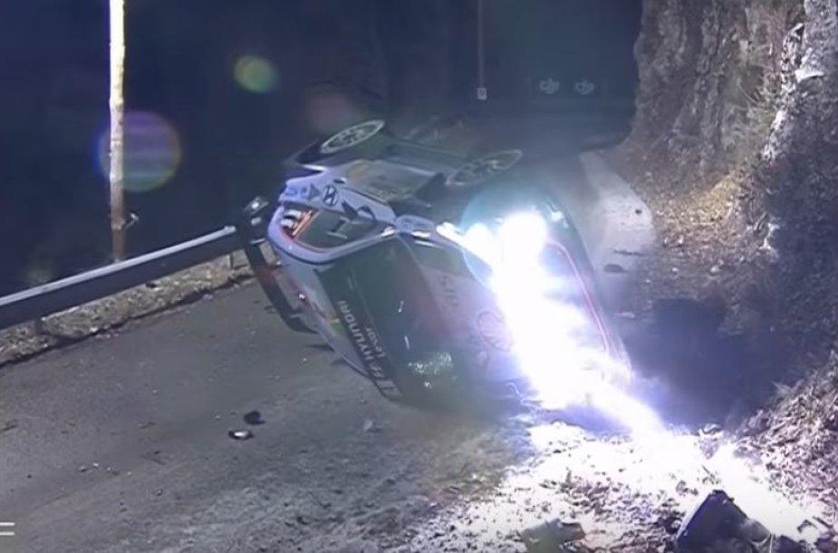 Hayden Paddon avarija