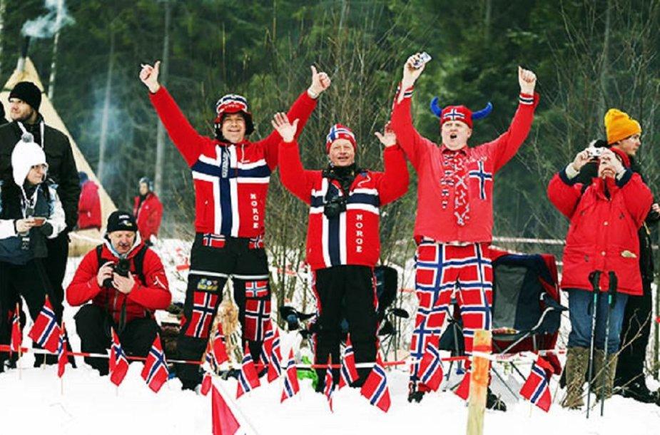 Žiemos ralio aistruoliai Norvegijoje