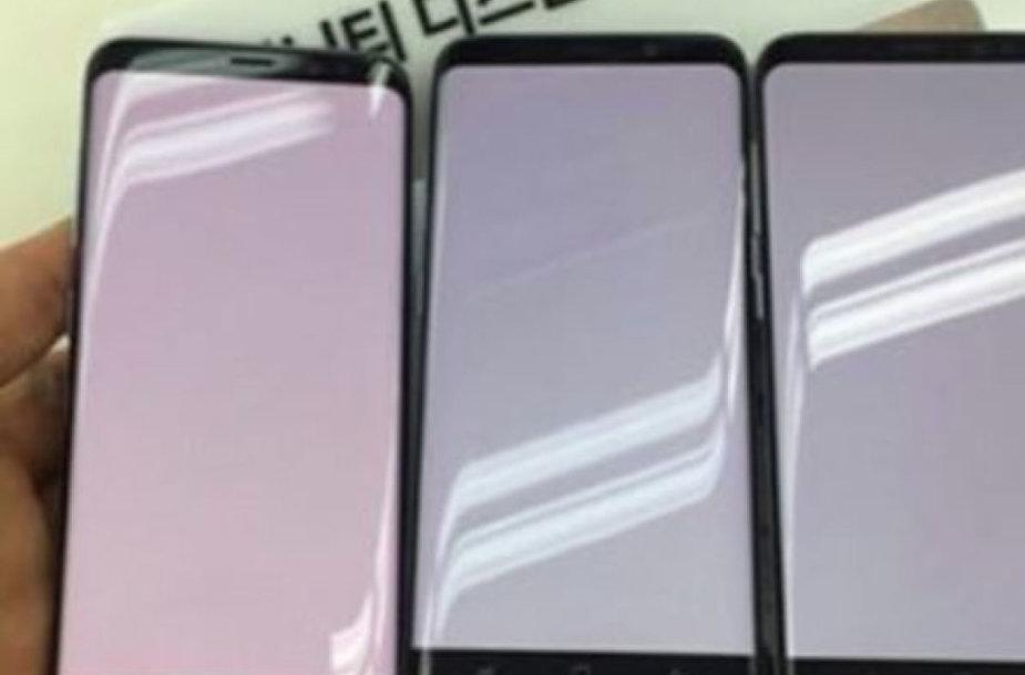 """Raudonas """"Samsung Galaxy S8"""" ekranas"""