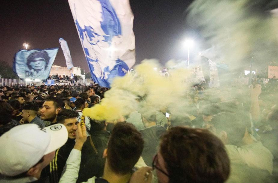"""""""Napoli"""" sirgaliai gatvėse šventė pergalę prieš """"Juventus"""""""