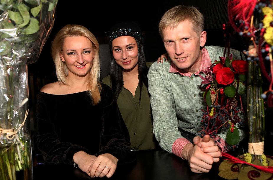 Viktorija Mauručaitė su dukra Gabriele ir Artūras Butkevičius