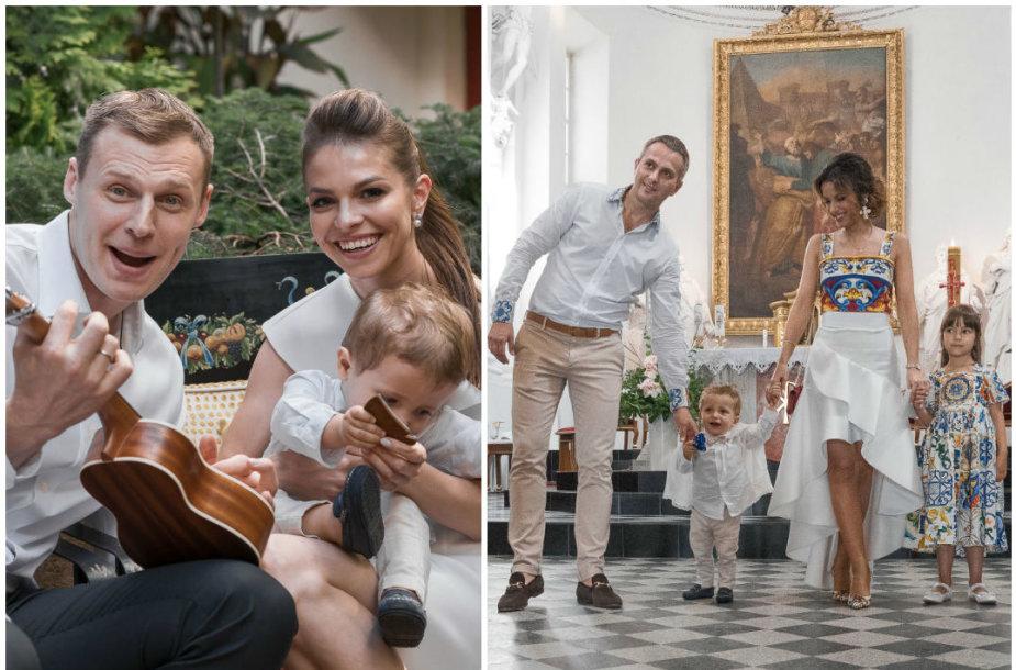 Martynas ir Viktorija Pociai, Karina ir Mantas Daniškevičiai su vaikais