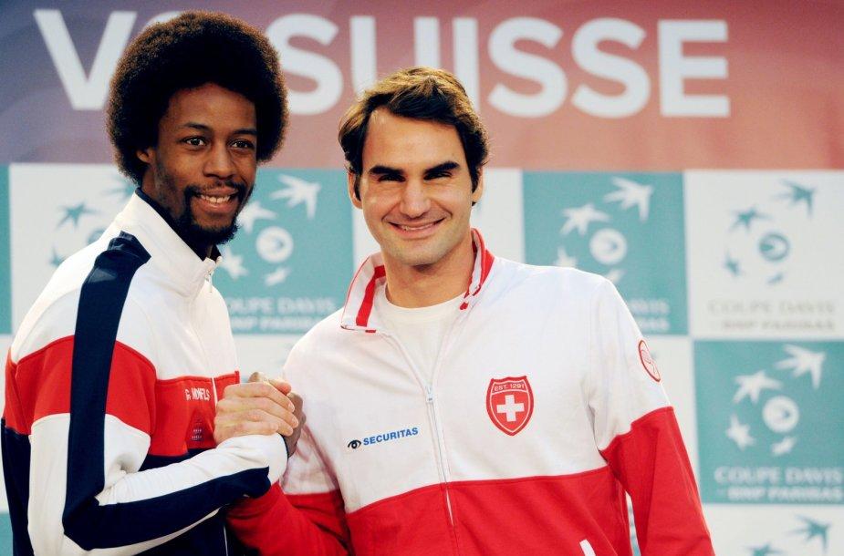 Gaelis Monfilsas ir Rogeris Federeris
