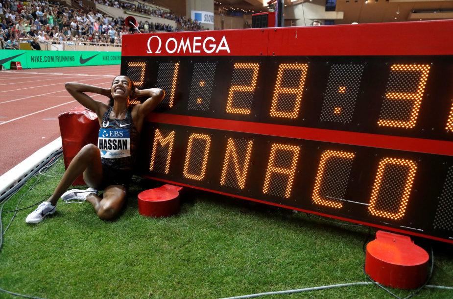 Sifan Hassan pagerino pasaulio rekordą