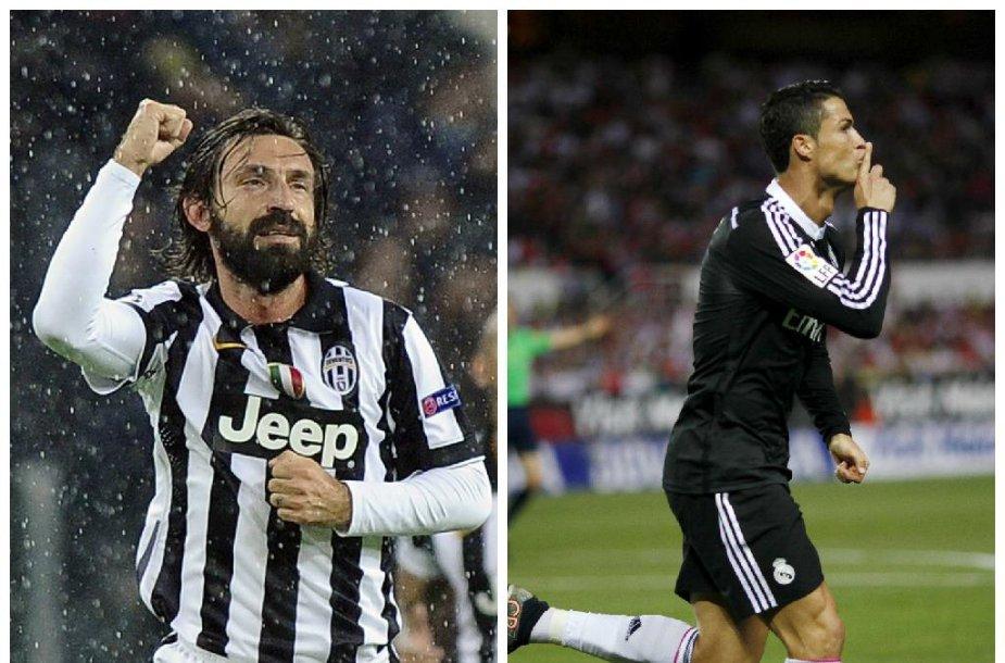 Andrea Pirlo ir Cristiano Ronaldo