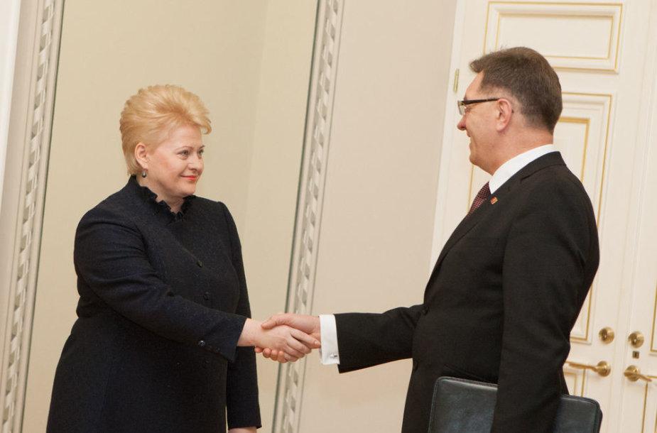 Lietuvos prezidentė Dalia Grybauskaitė ir Algirdas Butkevičius