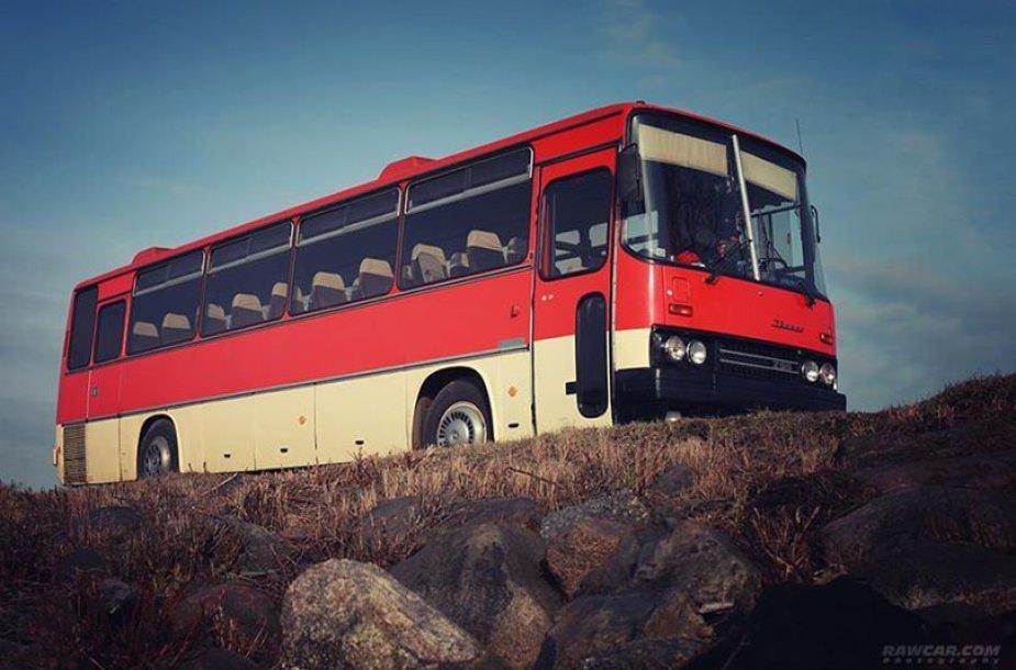 """Atsisveikinimas su autobusu """"Ikarus"""""""