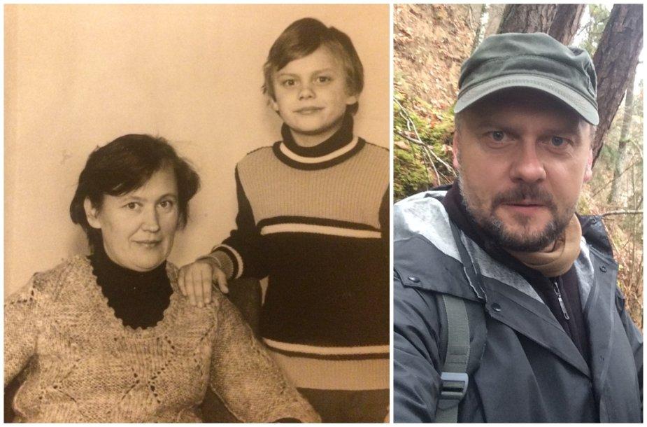 Saulius Stirbinskas su mama