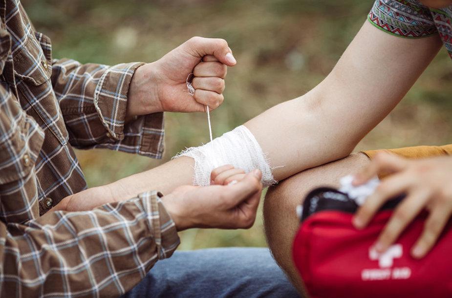 Žaizdos ir traumos aktyvios kelionės metu nėra retas dalykas