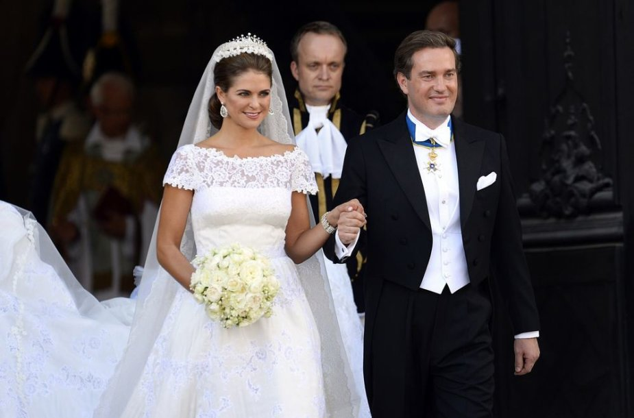Švedijos princesė Madeleine ir Chrisas O'Neillas