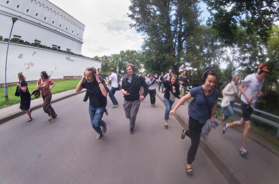 """Spektaklio """"Remote Vilnius"""" akimirka"""