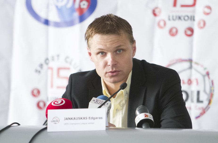 Turnyro globėjas ir UEFA Čempionų lyos pasiuntinys Edgaras Jankauskas.