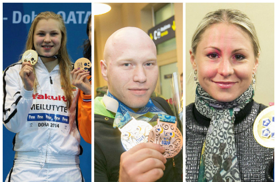 Rūta Meilutytė, Aurimas Didžbalis ir Laura Asadauskaitė