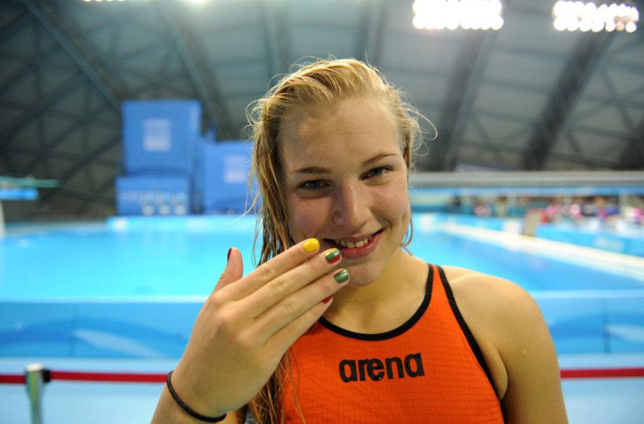 Plaukikė Rūta Meilutytė Nandzinge – viena didžiausių žaidynių žvaigždžių