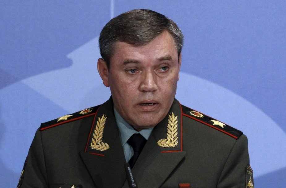 Rusijos ginkluotųjų pajėgų generalinio štabo viršininkas generolas Valerijus Gerasimovas