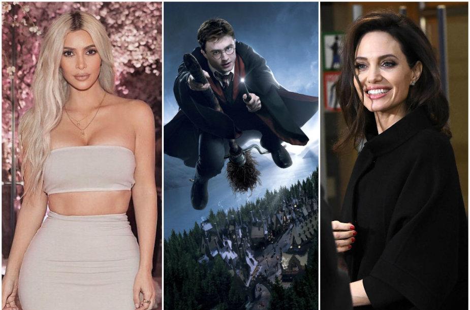 Kim Kardashian, Danielis Radcliffe'as ir Angelina Jolie