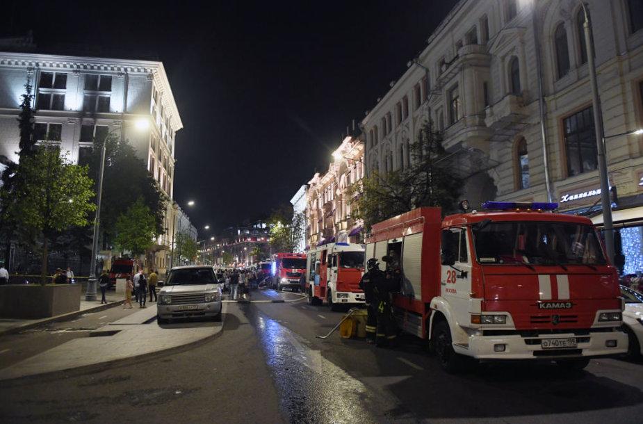 gaisras Rusijos centriniame banke
