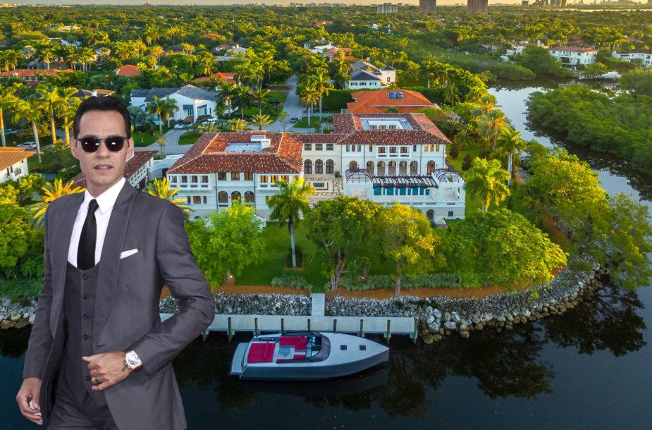 Lotynų Amerikos superžvaigždės Marco Anthony vila Floridoje už 19 mln. dolerių