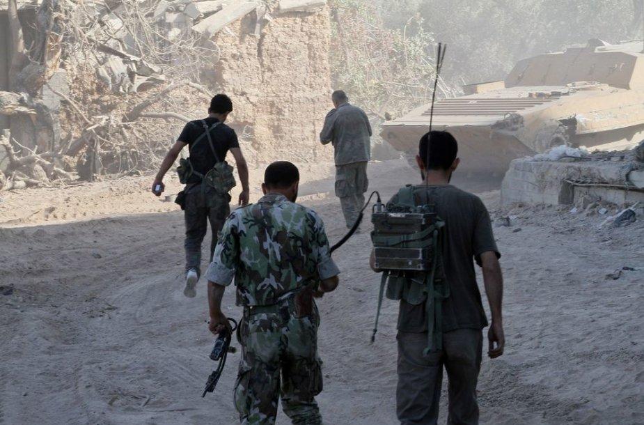Sirijos vyriausybinių pajėgų kariai