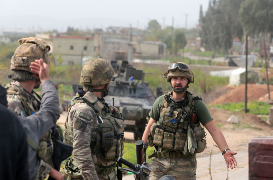 Turkijos kariai Sirijos Afrino regione