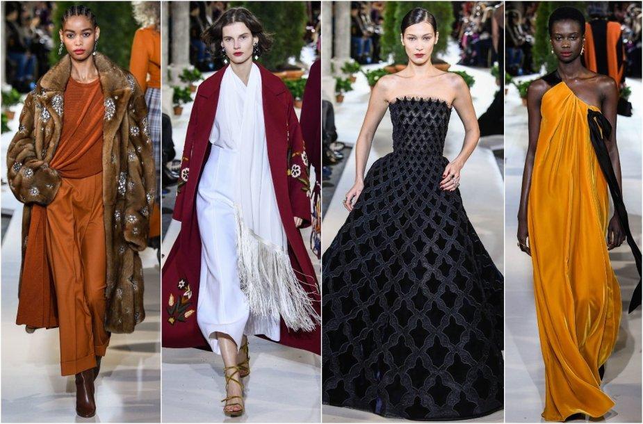 """""""Oscar de la Renta"""" 2019–2020 m. rudens ir žiemos kolekcijos modelis"""