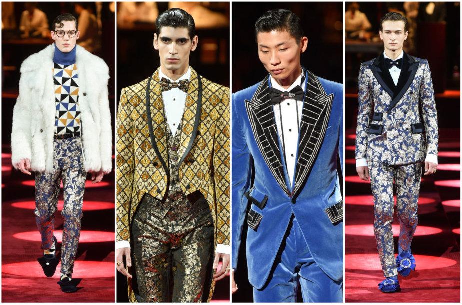 """""""Dolce & Gabbana"""" 2019–2020 m. rudens ir žiemos kolekcijos modeliai"""