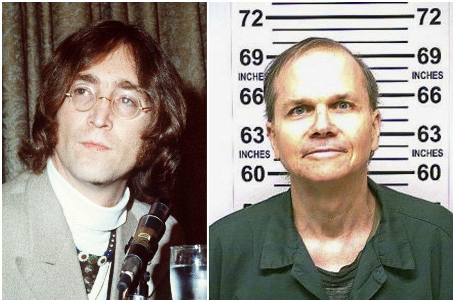 Johnas Lennonas ir jo žudikas Markas Davidas Chapmanas