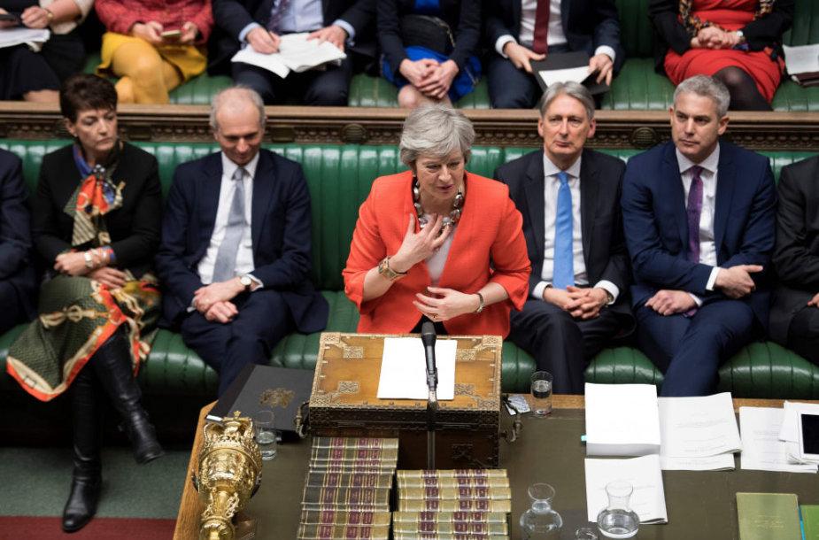 """Brexit"" sutarties svarstymas britų parlamente"