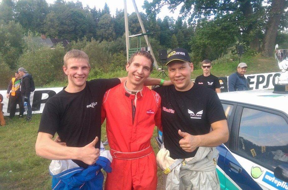 Iš kairės: Aurimas Vaškelis, Mantas Kulvinskas ir Andrius Čibirka
