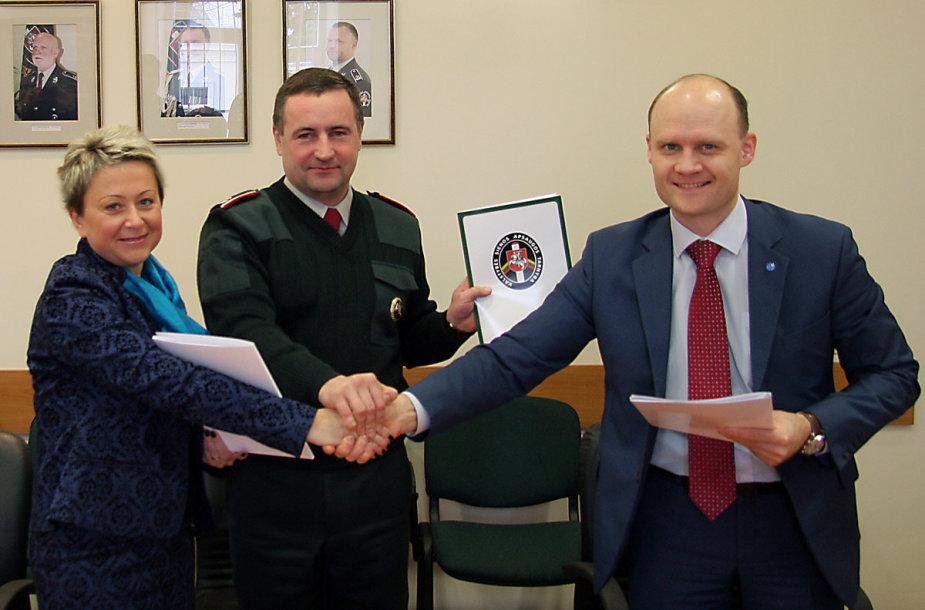VSAT ir profsąjungų pasirašyta sutartis