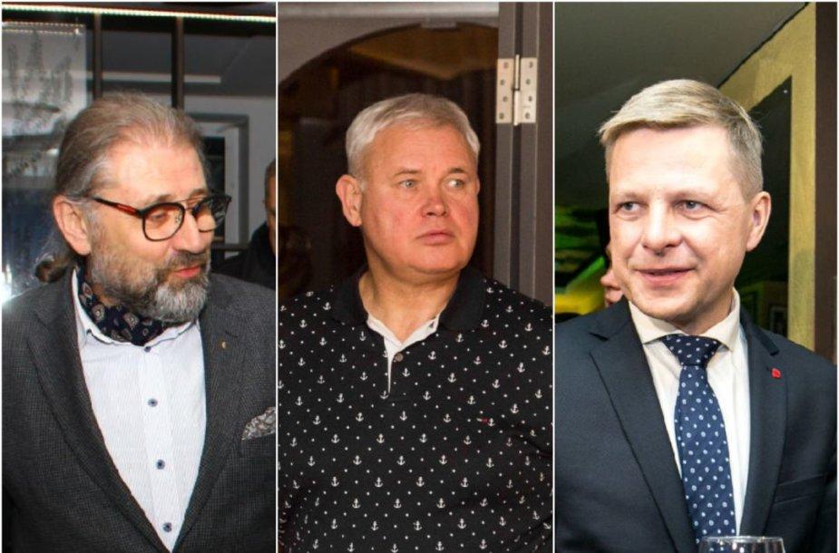 Mykolas Račkauskas, Vytautas Grubliauskas ir Remigijus Šimašius