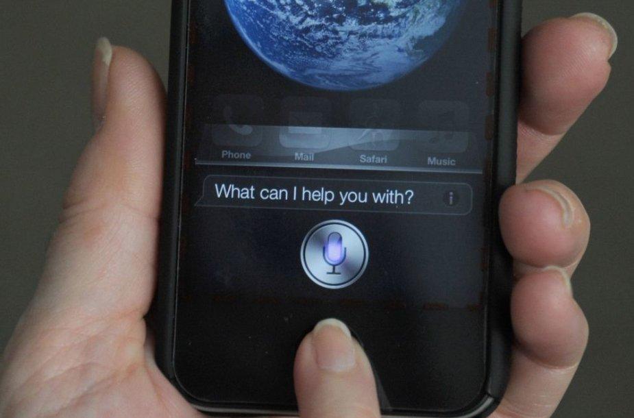 """""""iPhone"""" virtuali asistentė """"Siri"""""""