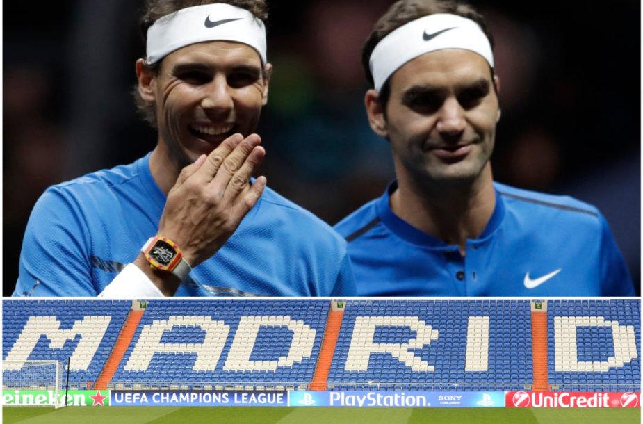 "Rafaelis Nadalis ir Rogeris Federeris / ""Santiago Bernabeu"" stadionas"