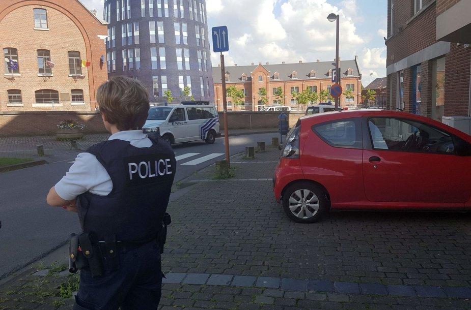 Belgijos policininkė Šarlerua mieste