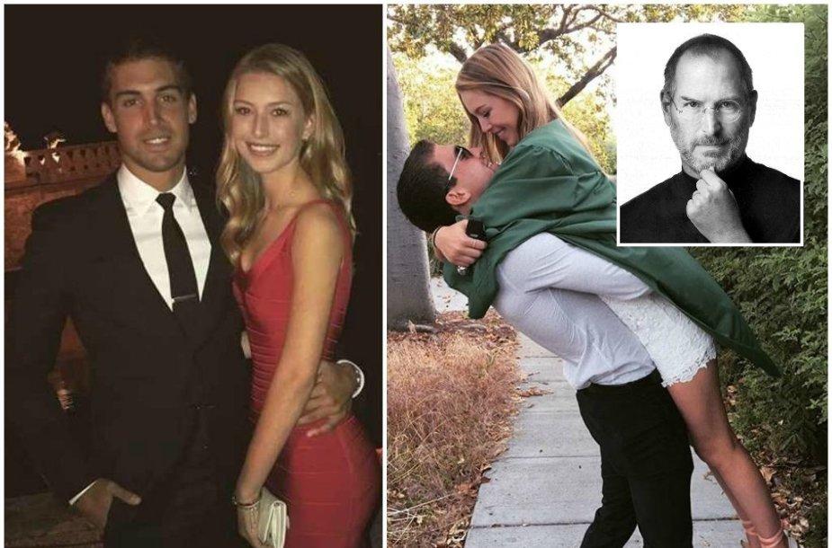Steve'o Jobso dukra Eve Jobs ir jos vaikinas Eugenio Garza Perezas