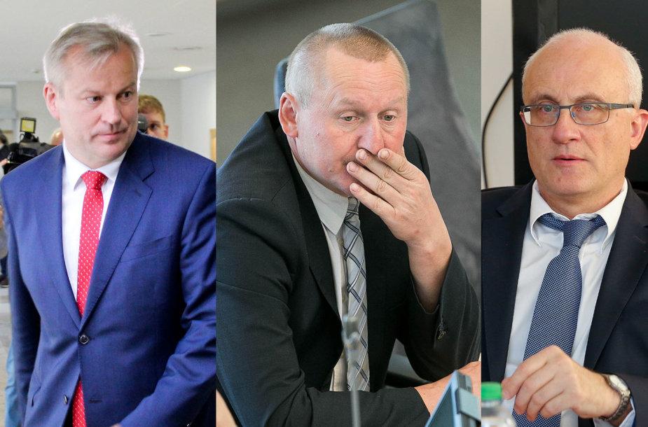 Mindaugas Bastys, Petras Čimbaras, Stasys Jakeliūnas