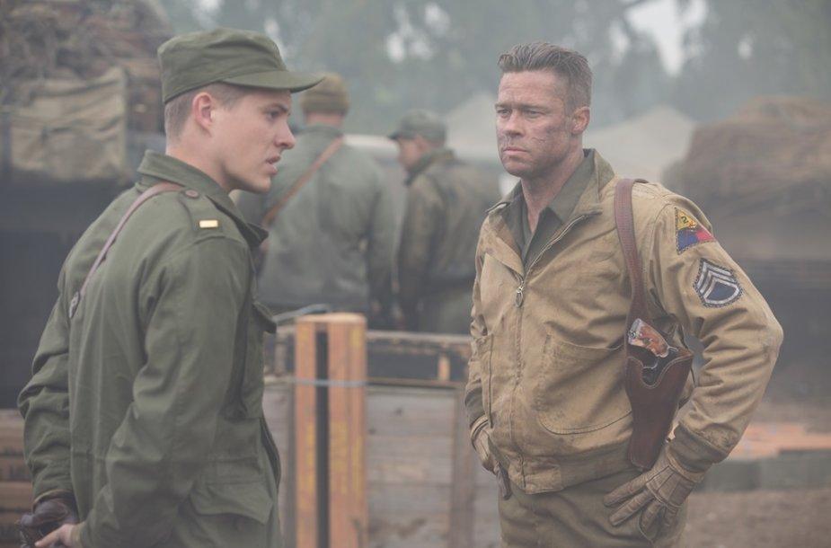 """Bradas Pittas ir Loganas Lermanas filme """"Įniršis"""""""