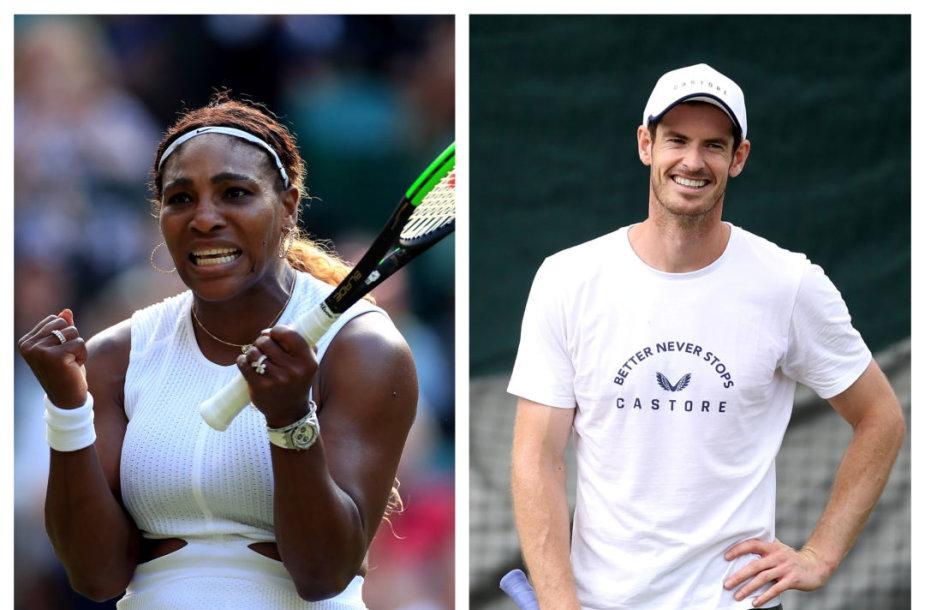 Serena Williams ir Andy Murray