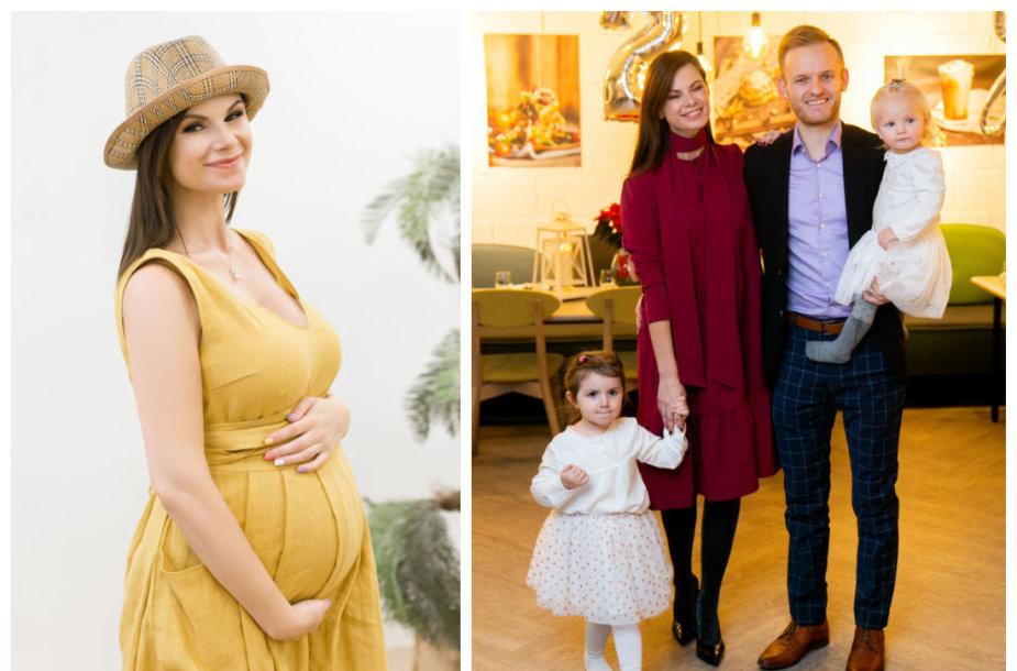 Laura Mazalienė su šeima