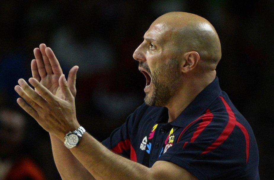 Serbijos rinktinės treneris Saša Djordjevičius