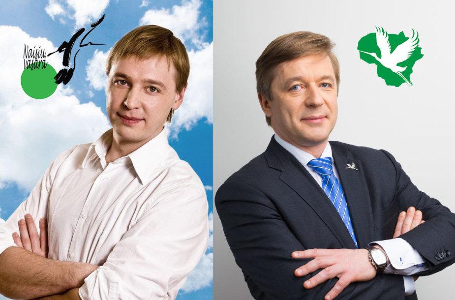 Aurimas Žvinys ir Ramūnas Karbauskis