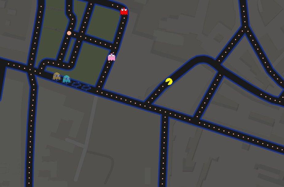 """""""Pac - Man"""" Vilniaus centre"""