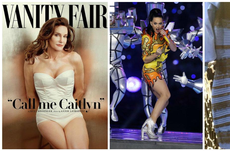 Svarbiausios šių metų akimirkos socialiniuose tinkluose: nuo debatų dėl suknelės iki Caitlyn Jenner